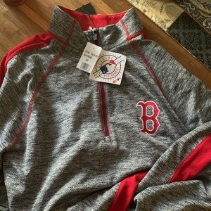 Mens md lg sleeve Boston Red Sox  light sweatshirt